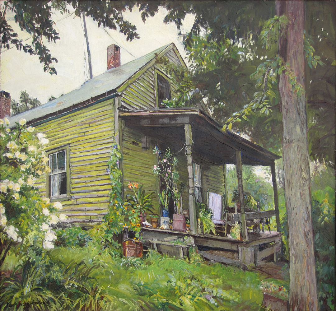Robert Strong Woodward, Mrs. Keach's Front Porch, 1933. Private Collection