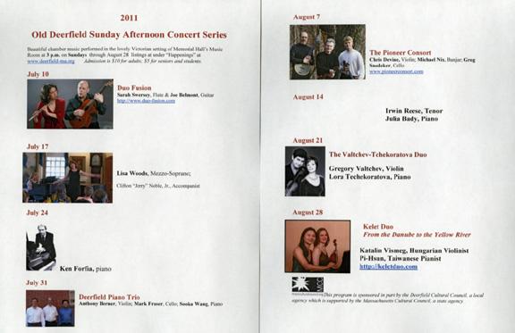 2011 Concert Series at PVMA
