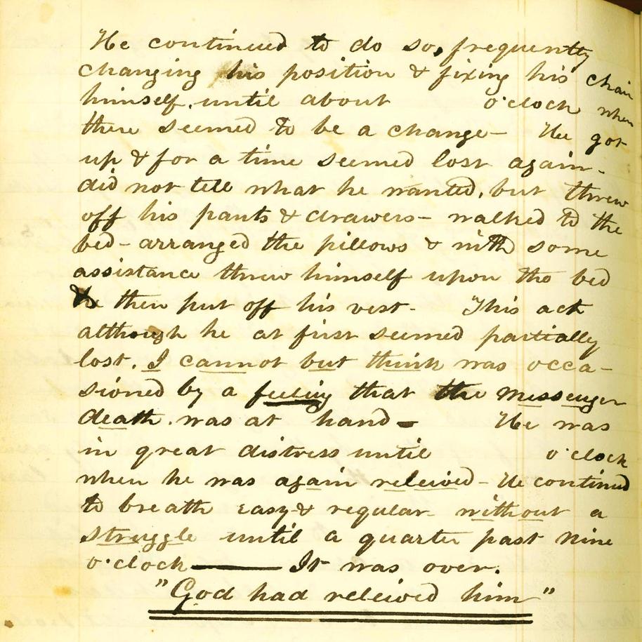 Josiah Allen diary detail